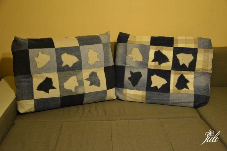 pillow - foxes in jeans - vankuse na chalupu, no uvidime, ujali sa aj doma