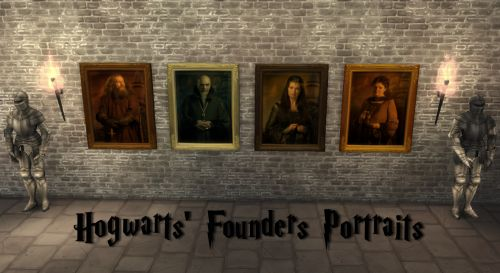"""""""The Hogwarts founders, also known as the Hogwarts Four, were four witches and wizards who established Hogwarts School of Witchcraft and Wizardry during the medieval era, in the 10th century."""" (Source: http://harrypotter.wikia.com/) These are the..."""
