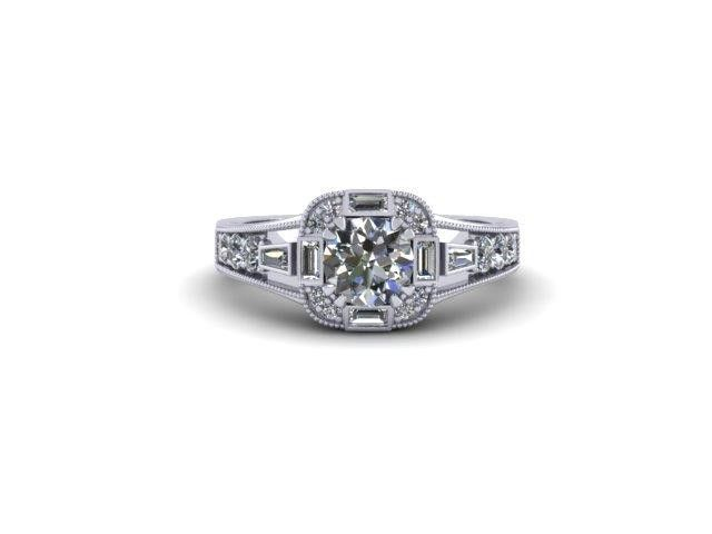 Custom Design Halo Style Engagement Ring – Dana's Goldsmithing