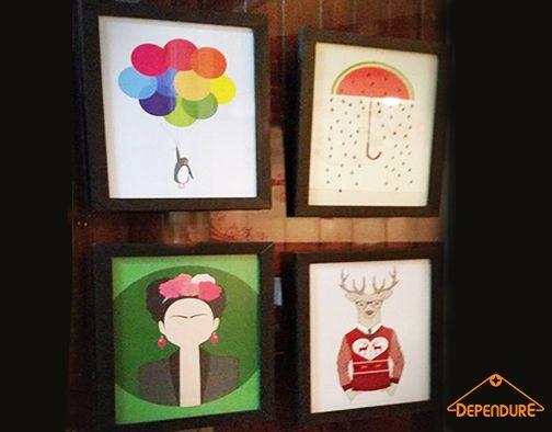 Quadros prontinhos para serem enviados para nossos clientes!!! Amando todos eles!!! www.dependure.com.br