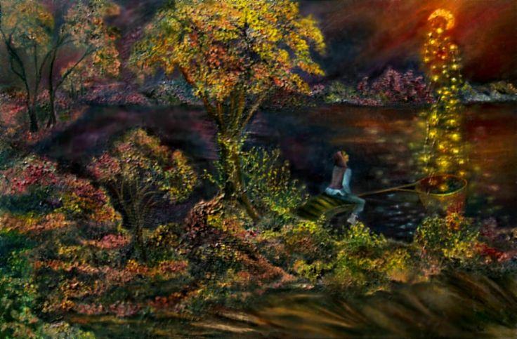 """""""дитя луны""""2015г. 80см*120см масло/холст жанровый сюрреализм  цена договорная surrealism сюрреализм картины"""