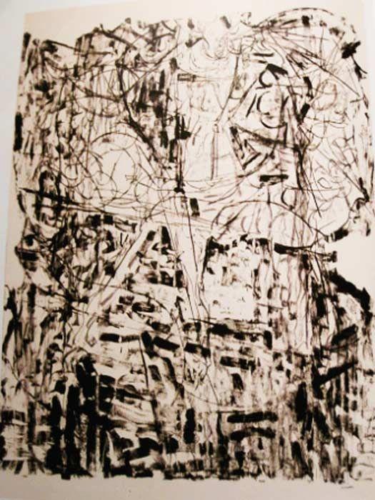 """Jean Paul Riopelle, Suite Lachaudière, 1972,  Lithographie, 63"""" x 45.5"""""""