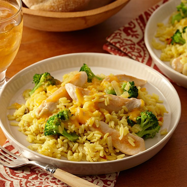 Want a new spin on a classic American casserole? Add Zatarain's Yellow Rice to the tasty flavors of chicken, broccoli and cheddar cheese for an easy-to-make, one-pot meal. Season with hot pepper and create a new family-favorite dinner.
