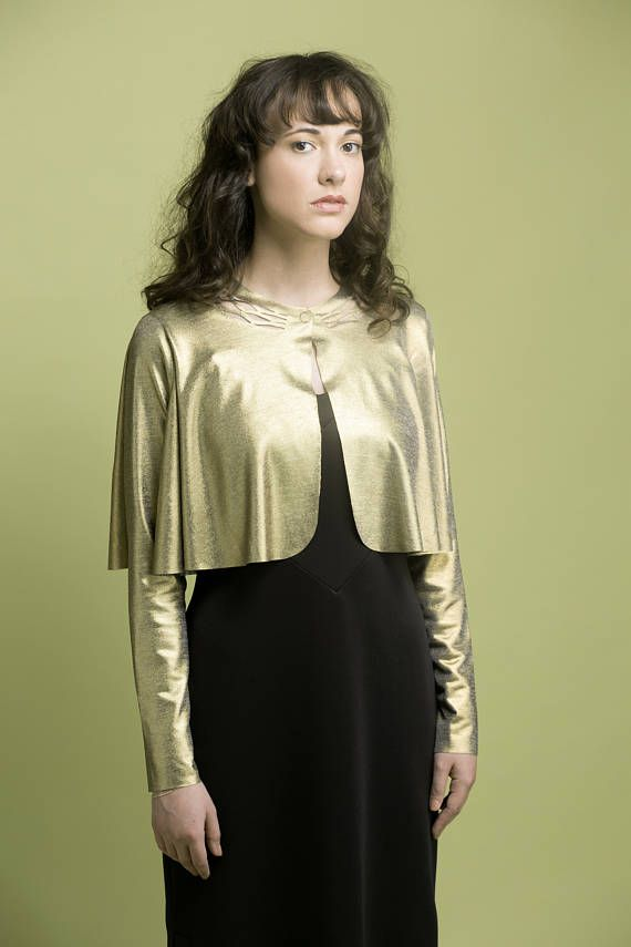 Gold Evening Shrug, Gold Bolero, Shawls Wraps, Dressy Bolero, Gold Women's Bolero, Gold Cover Up, Gold Evening Shawl, Elegant Gold Shrug