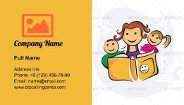 Créez une carte de visite pour les enfants qui aiment étudier en ligne; téléchargement gratuit Business ca …