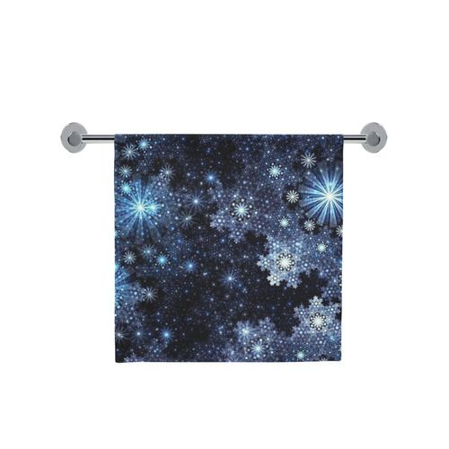 """Wintery Blue Snowflake Pattern Bath Towel 30""""x56"""" l Available in 3 sizes."""