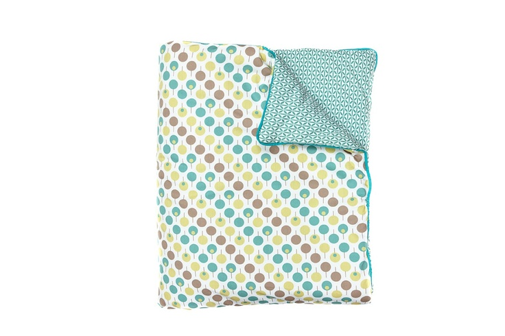 Ella & Otto Cot / Cot Bed Quilt Lollipop Sea