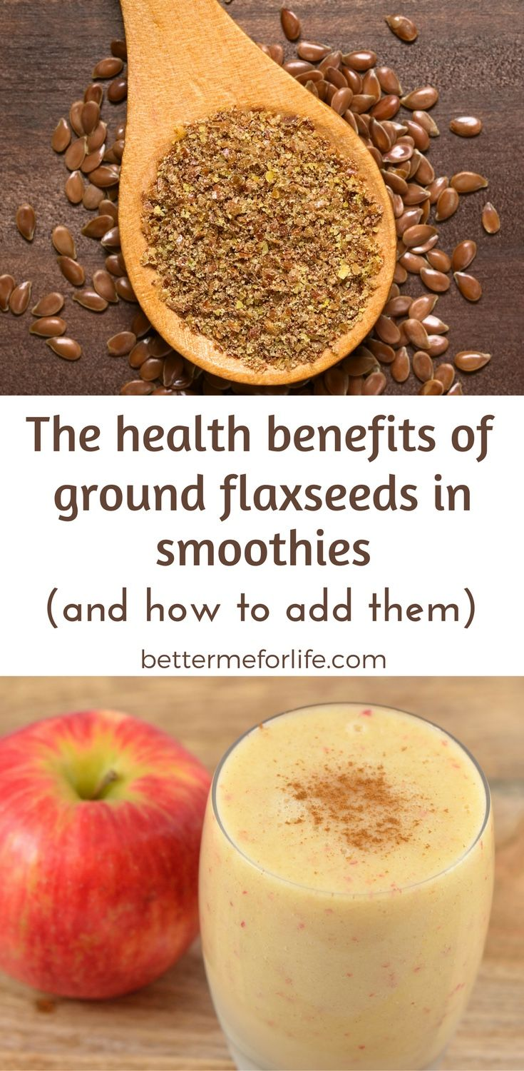 Flaxseeds in smoothies help to give them an omega-3, fiber, and protein boost! They help to keep you full for longer and add many health benefits. Learn more on BetterMeforLife.com