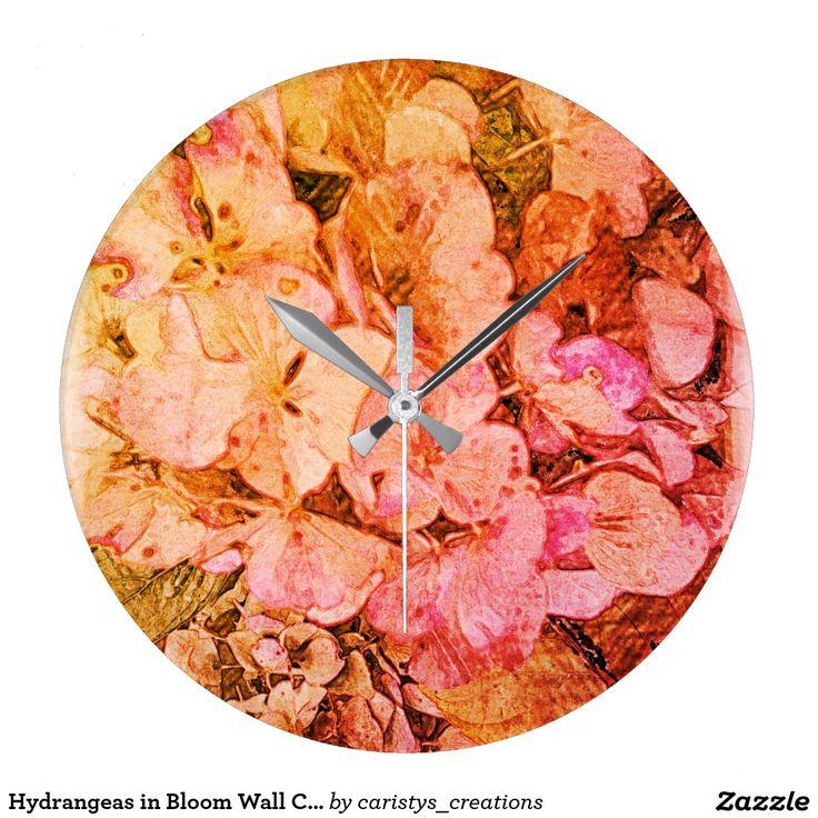Hydrangeas in Bloom Wall Clock