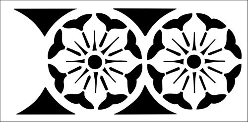 Border No 10 stencil from The Stencil Library INDIA AND CHINA range. Buy stencils online. Stencil code IN10.