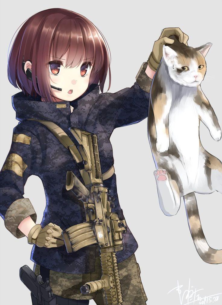1600 best images about anime girl gun on pinterest - Gun girl anime ...