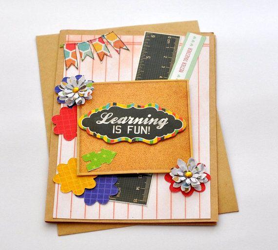Teacher Card Teacher Appreciation Day Teacher by @papersimplicity