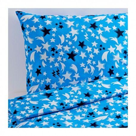 SOLBRUD Komplet pościeli, niebieski, poszewka kołdry, poszewka poduszki, 150x200/50x60 cm, pościel dziecięca, pościel dla chłopca, ikea pościel, 102.988.73,