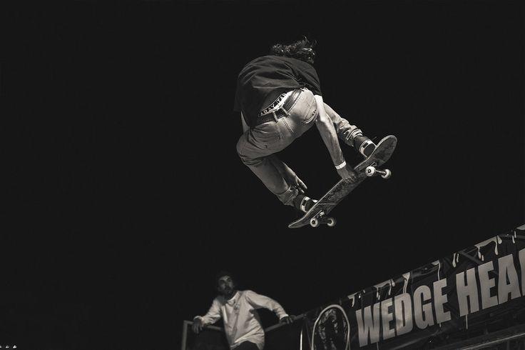 Night-time skate at Shaka fest, skate and street photography
