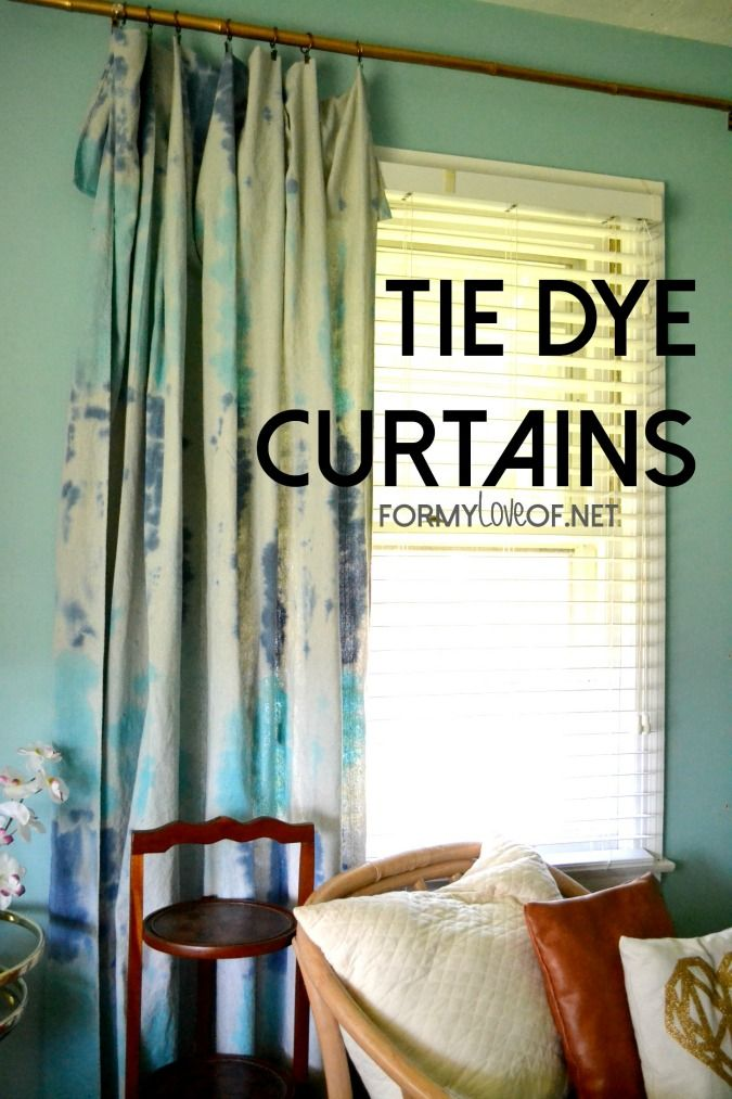 DIY Tie Dye Curtain Panels