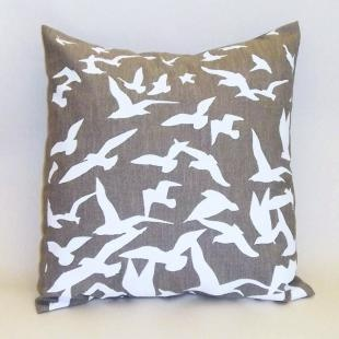 Gorgeous Gulls Cushion (Linen), Sarah Grew Textiles, £15 in sale - so lovely, i want one!