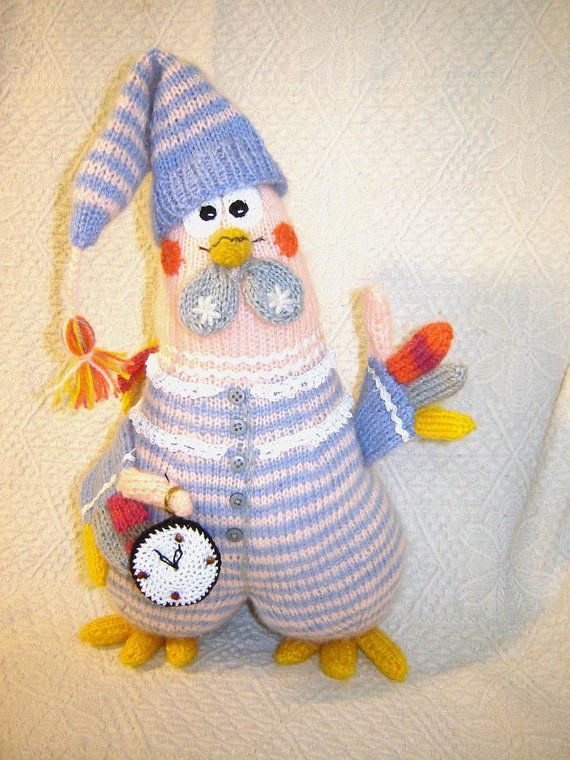Rooster toy,Cock dekor,Amigurumi,Rooster,Cock art,Knitted cock,Rooster alarm clock,Plush Rooster,Made to order,gift to a child