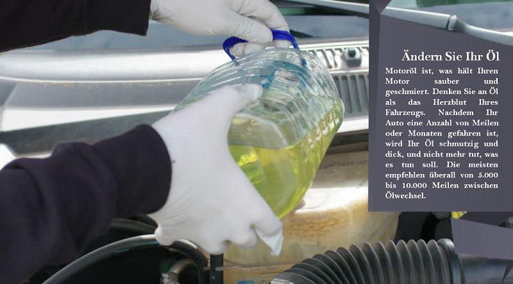 Ändern Sie Ihren Öl- und Ölfilter Sie sollten Ihr Öl regelmäßig wechseln, wie in Ihrem Fahrerhandbuch angegeben. Sie sollten Ölwechsel häufiger bekommen, wenn Sie ausgedehnte Fahrten mit viel Gepäck machen oder wenn Sie ein Boot oder Anhänger schleppen.  #nokianweatherproof