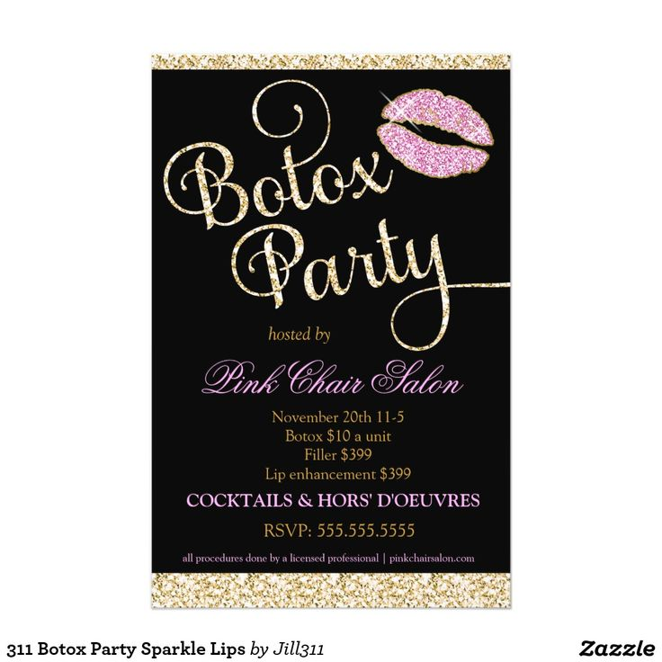Botox Party Flyer Google Search Medspa Pinterest