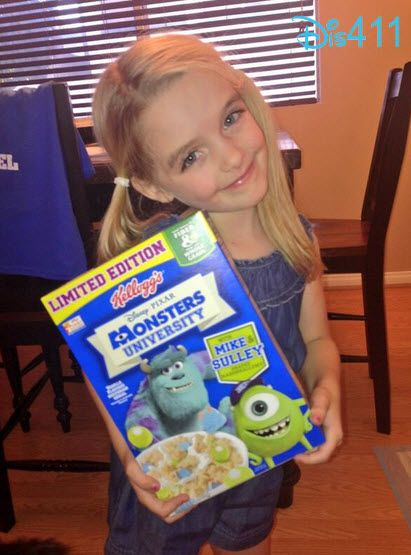 """Dis411 Photo: Mckenna Grace Purchased """"Monsters University"""" Cereal"""