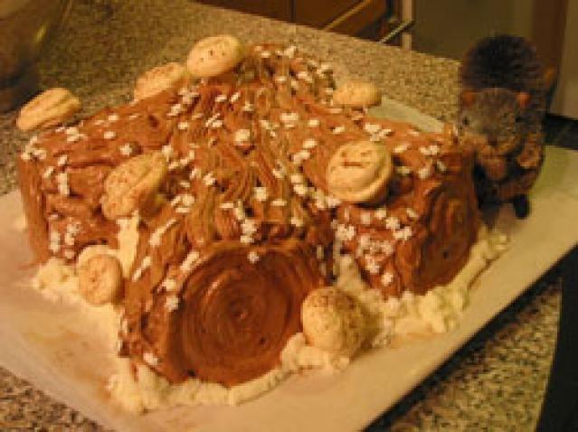 Buche de Noel Recipe: Buche de Noel - Yule Log Cake (vanilla-orange genoise)
