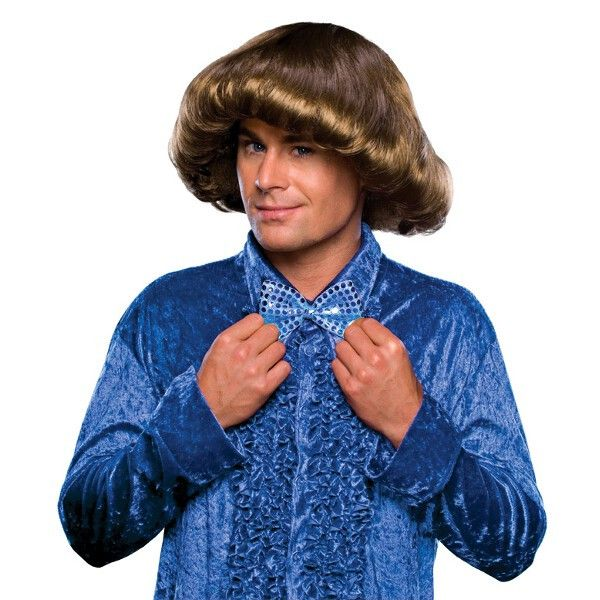 70s Brown Prom Boy Wig