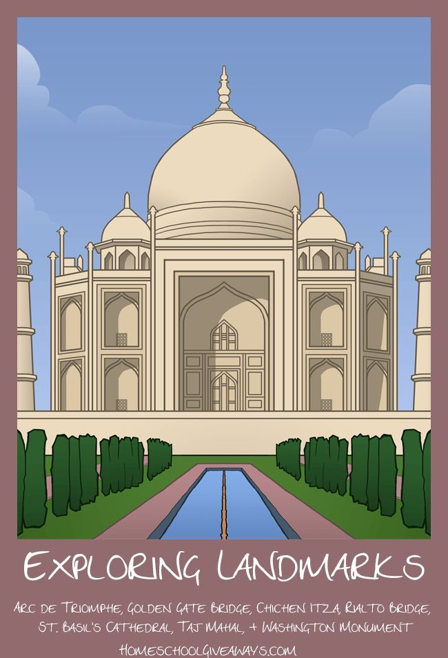 FREE Exploring Landmarks Unit Four. Why was the Rialto Bridge built? Who built St. Basil's Cathedral? What restoration projects have been undertaken at the Taj Mahal? These are just a few of the types of questions students can explore with this Exploring Landmarks notebooking unit. Included are notebooking pages for each of the seven featured landmarks, along with a Sort it Out quiz and a writing prompt for further study.