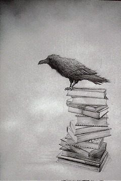 """Crows Ravens: """"#Raven,"""" by redtreefactory."""