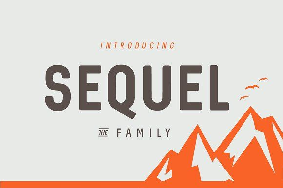 Sequel Font Family by phitradesign on @creativemarket