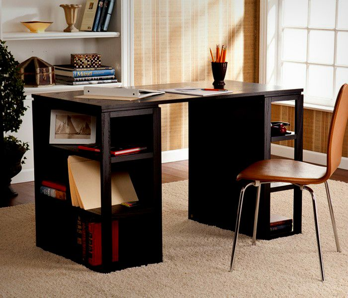 dark wood writing office table
