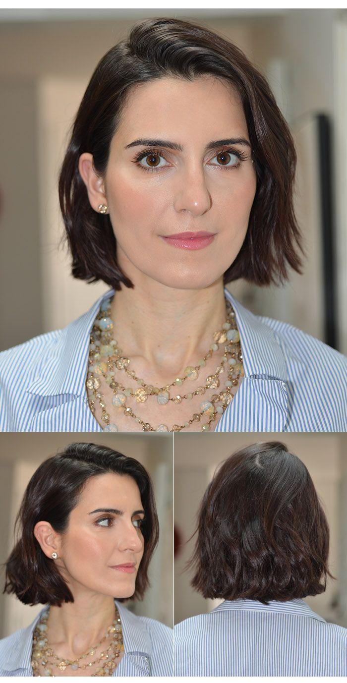 Siga @makeupatelier MakeUp Atelier por Cinthia Ferreira » Arquivos » Meu cabelo Novo | Blunt Bob com efeito bagunçado usando babyliss