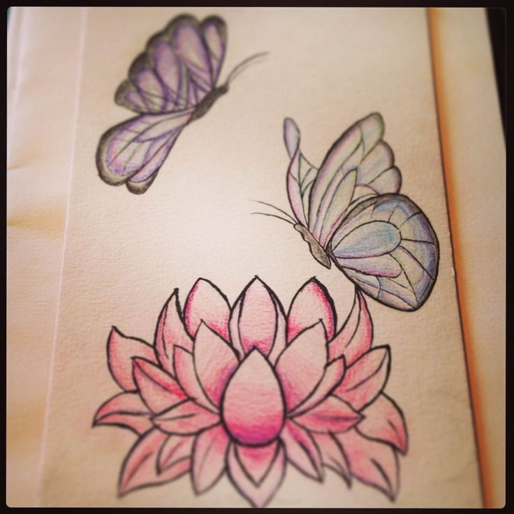 My lotus flower and butterfly tattoo design lotus flowers for Lotus flower and butterfly tattoo designs