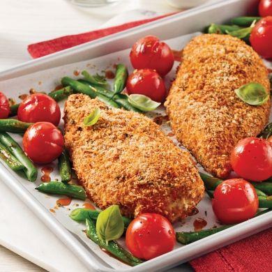 Poulet en croûte de parmesan - Recettes - Cuisine et nutrition - Pratico Pratique