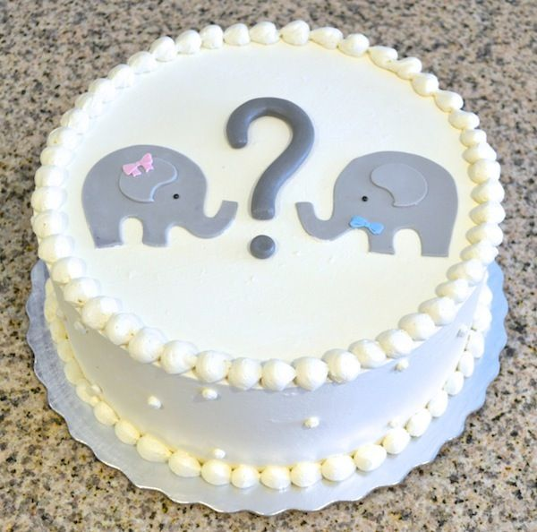 Elephant baby shower gender reveal cake sugarland raleigh and chapel hill