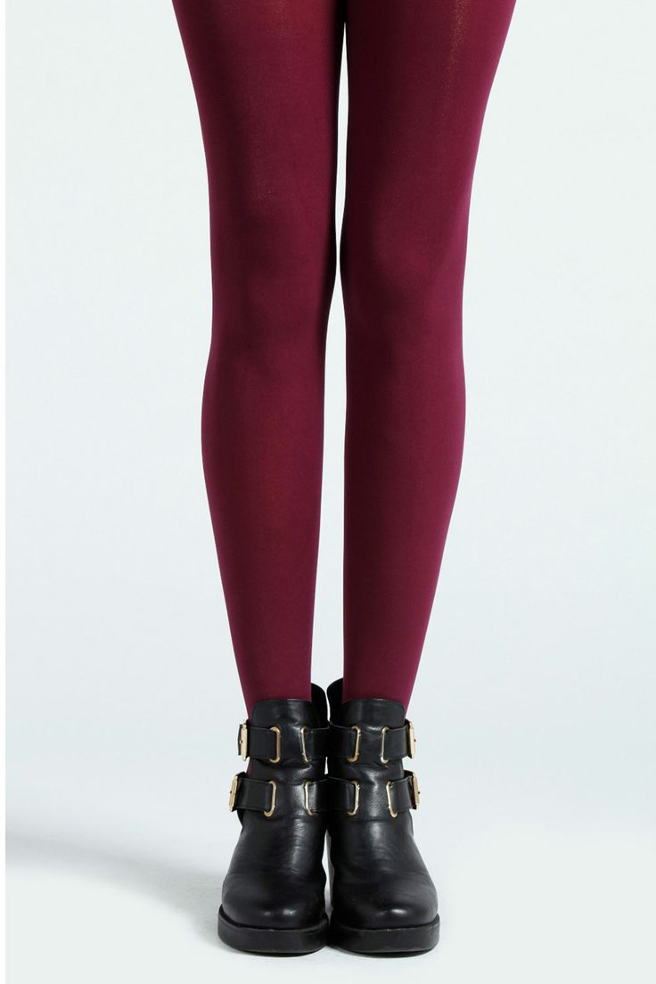 Plum 50 Denier Coloured Tights (also available in grey, red and teal) >> http://www.boohoo.com/restofworld/accessories/icat/tights/lola-50-denier-coloured-tights/invt/azz41415