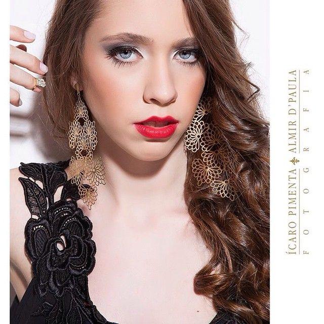 Maquiagem por Priscilla Prix, red lips, batok vermelho