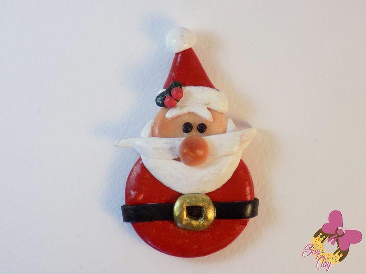 Polymer Clay Santa By Say Clay