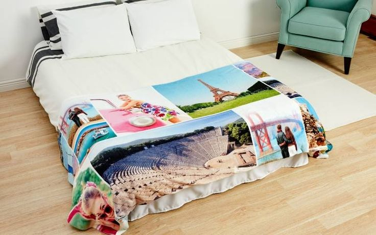 If you want to print photos on blankets, you're in the right place. It's so easy to print your favorite photos on a soft, cuddly photo blanket that we guarantee you'll love. Add photos from your phone, computer, Facebook, or Instagram to make a collage photo blanket. Use our professionally created templates to make something extra special. See why hundreds of thousands of customers love their Collage.com's customizable photo blankets. Design your own photo blanket today.