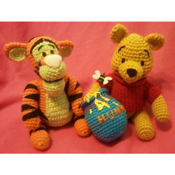 NERD DOLLZ Tigger and Winnie the Pooh, Amigurumi Crochet dol... - Polyvore