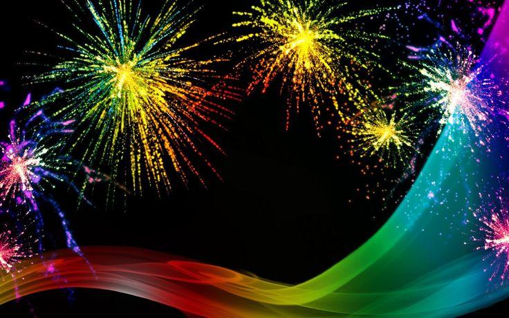 Rainbow Firework Wallpapers High Resolution