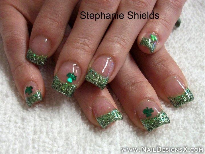 green nail design for St.Patrick day - Nail Designs & Nail ...
