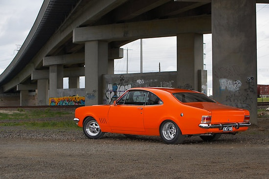 Orange Holden HG Monaro