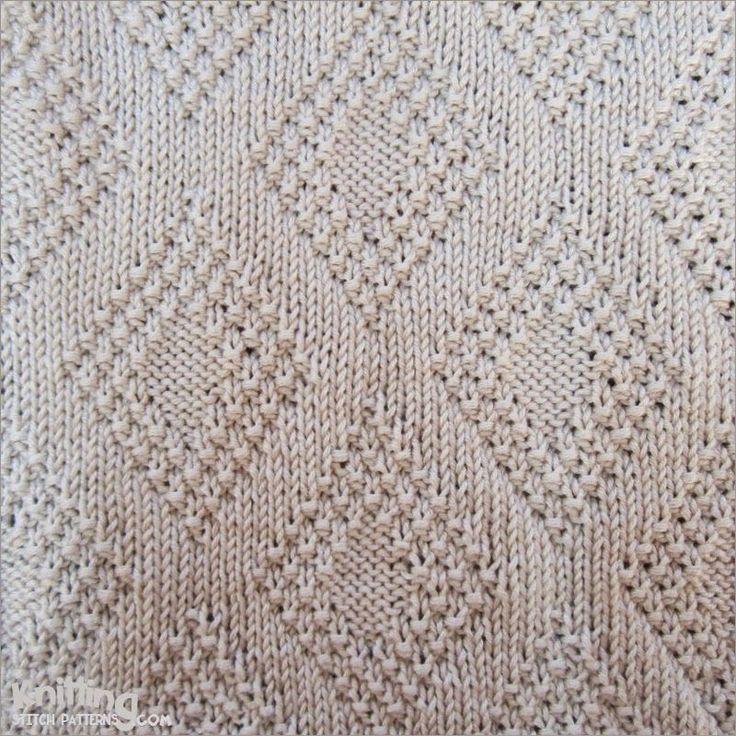 Moss Bordered Diamond stitch