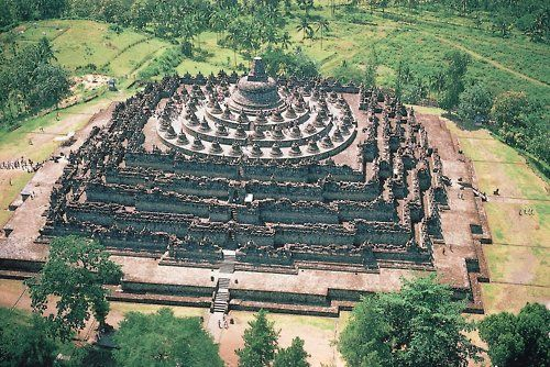 Borobudur temple near Yogyakarta