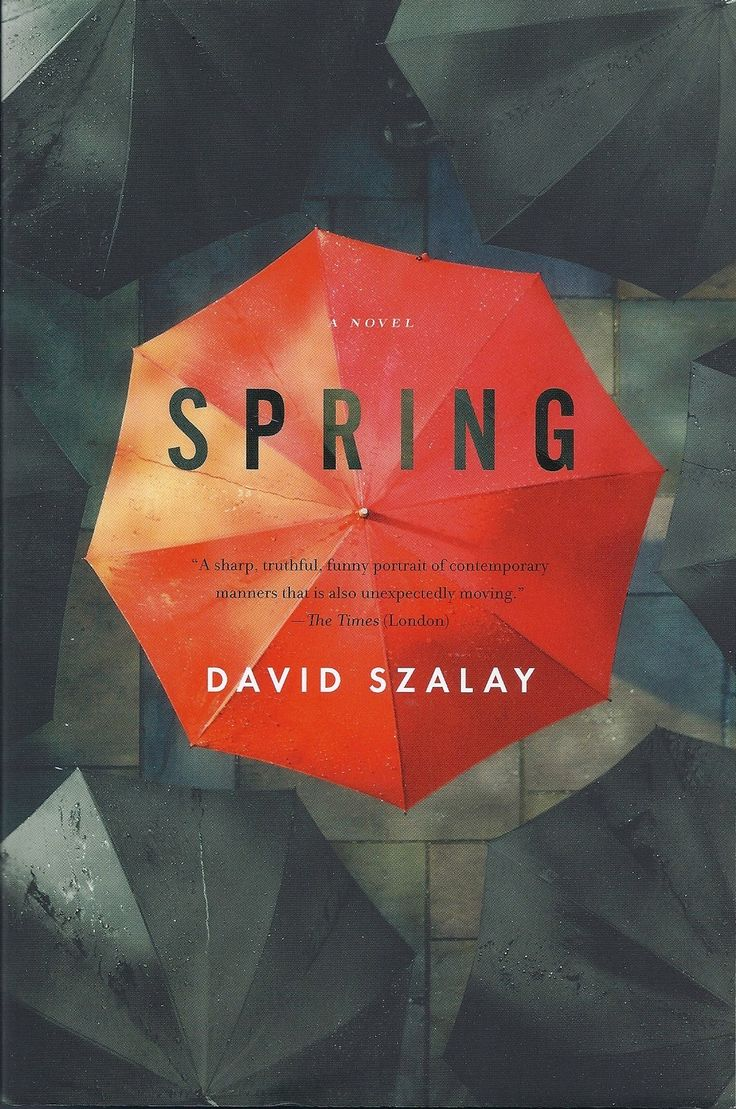 Spring by David Szalay. Book cover design inspiration. #art