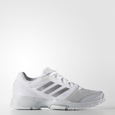 Adidas Barricade Club Women's Tennis Shoes White Silver