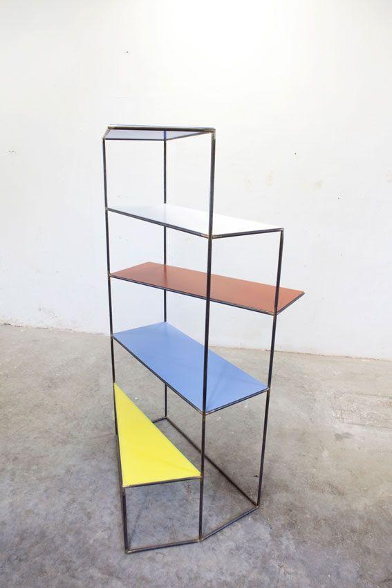 Hannes van Severen and Fien Muller; Polyethylene and Tubular Metal 'Writing Desk' for Muller van Severen, 2012.: