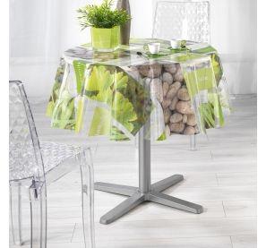 Toile cirée ronde 160 cm, nappe imperméable avec imprimés décoratifs - 6 à 8 personnes - 12,99 €  sur www.ac-deco.com