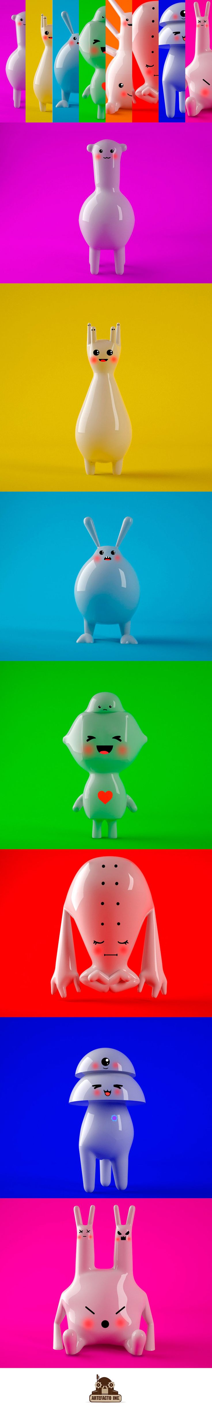 Familia feliz :) Art Toys on Behance