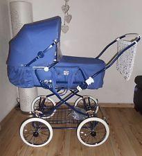 Nostalgie Kombi Kinderwagen Jeans Denim blau 80er Retro ähnl. Hesba NEU!!!